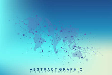 Three-dimensional abstract planet, representing the global, international meaning technology networking concept. Digital data visualization. Big Data background communication vector illustration