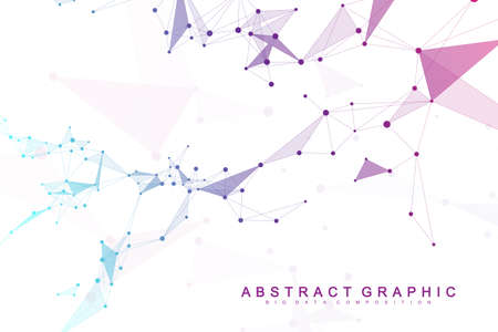 Big data visualization. Graphic abstract background communication. Perspective backdrop visualization. Analytical network complex. Vector illustration. Standard-Bild - 103919239