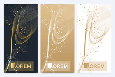 Chocolate bar packaging set. Trendy luxury product branding template with label pattern for packaging. Geometric abstract golden package with mandala. Connected line with dots. Vector illustration. Archivio Fotografico - 125161949