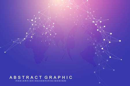 Technology abstract background with connected line and dots. Big data visualization. Artificial Intelligence and Machine Learning Concept Background. Analytical networks. Vector illustration. Zdjęcie Seryjne - 124762635