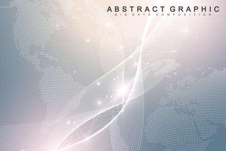 Nano technologies abstract background. Cyber technology concept. Artificial Intelligence, virtual reality, bionics, robotics, global network, microprocessor, nano robots. Vector illustration, banner Illustration