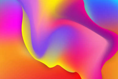 Colorful geometric abstract background fluid liquid wavy gradient flowing dynamic shapes. Modern trendy background for your presentation banner design template illustration. 免版税图像