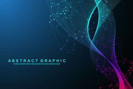 Scientific vector illustration genetic engineering and gene manipulation concept. DNA helix, DNA strand, molecule or atom, neurons. Abstract structure for Science or medical background. CRISPR CAS9.