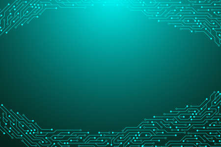 Computer motherboard background with circuit board electronic elements. Electronic texture for computer technology, engineering concept. Motherboard integrated computing illustration. 免版税图像