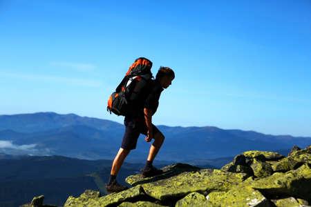backpacking: hiker