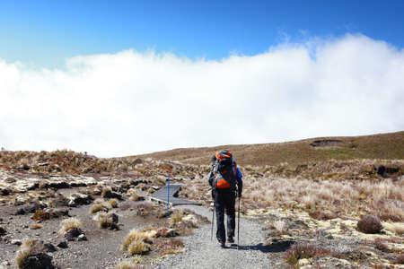 tongariro: New Zealand - Tongariro crossing Hiker
