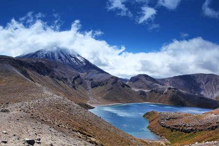 tongariro: New Zealand - Tongariro - Uper tama lake