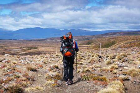 tongariro: Nueva Zelanda - Tongariro cruce Caminante