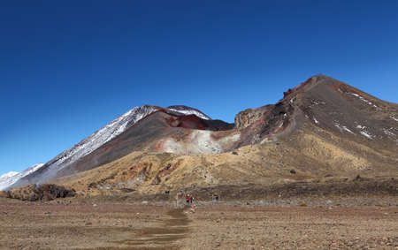 tongariro: New Zealand - Red Crater - Tongariro alpine crossing Stock Photo