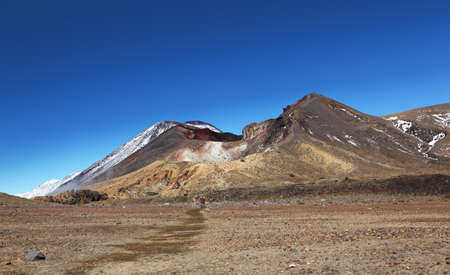 tongariro: Nueva Zelanda - Red Crater - Tongariro Alpine Crossing Foto de archivo