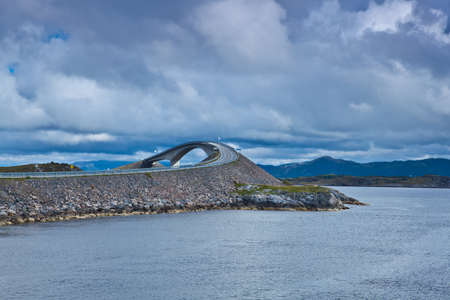 atlantic: Norway landscape - Atlantic road Stock Photo