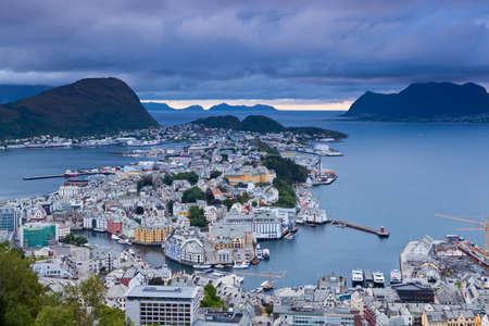 alesund: Norway - View of the city of Alesund Stock Photo