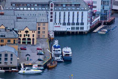 alesund: Norway - View of the city of Alesund Editorial