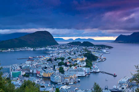 alesund: Norway - View of the city of Alesund Editorial