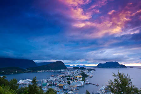 alesund: Norway - View of the city of Alesund Stock Photo