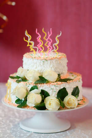 festive wedding cake from several tiers