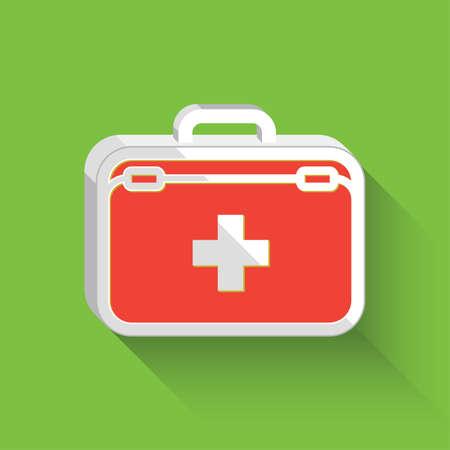 Medical bag first aid bag. Flat Design. Vector illustration. Illustration