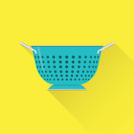 Colander icon flat design. Vector illustration.