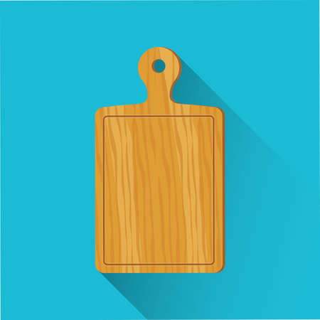 Cutting board icon. Flat design. Vector illustration.