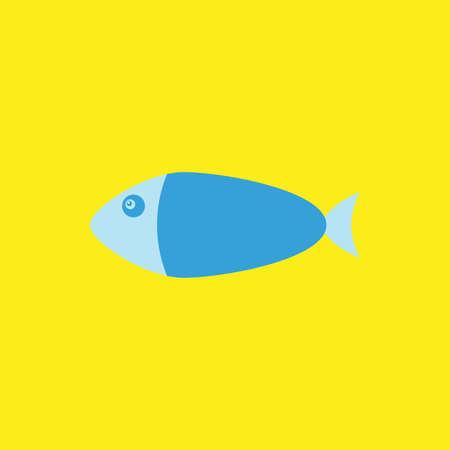 Fish flat icon vector illustration