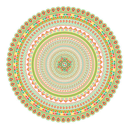 幾何学的なマンダラ。ヴィンテージと伝統的な装飾的な要素。この曼荼羅は本当に詳細な方法を描いた。デザインのもののすべての種類の使用をこ  イラスト・ベクター素材