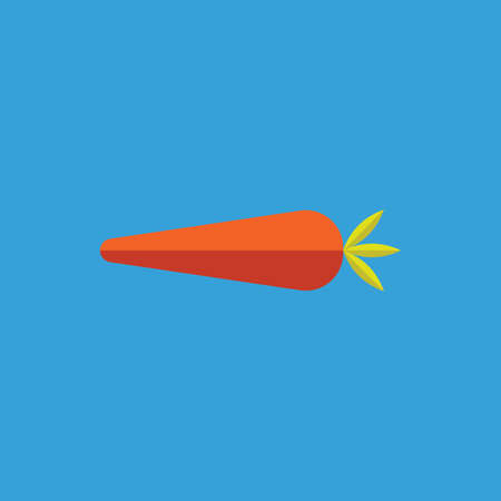 Carrot flat icon. Vector illustration Illustration