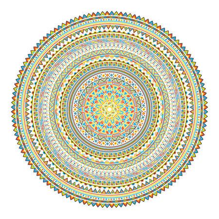 Geometrical Mandala. Vintage and traditional decorative elements.