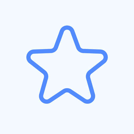 Star icon for the website menu. Rounded and thin line icon of the star, astronomy, favorite