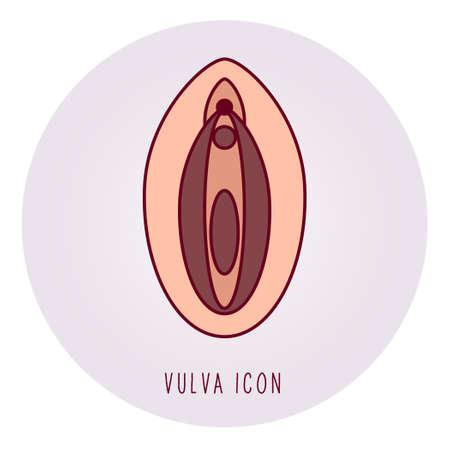 Symbole du féminisme ou de la santé de la femme. - Vecteur