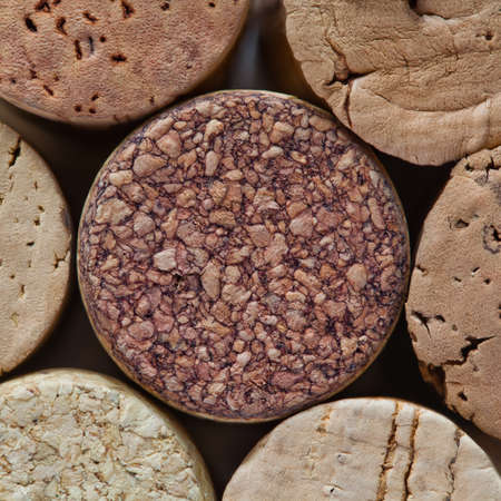 closed corks: Colorful wine corks. Macro view. Closeup. Texture.