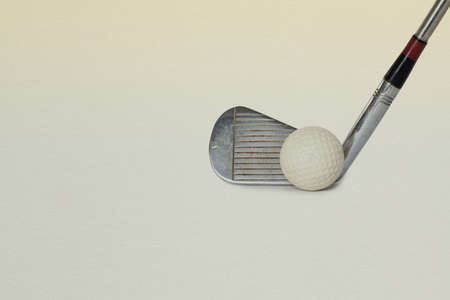 Vintage Antique Golf Driver Putter And Ball Club Retro Paper