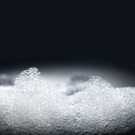 burbujas de jabon: Espuma de jabón, espuma, ducha. enfoque suave. macro