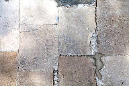 piso piedra: Suelo de piedra de la vendimia Foto de archivo
