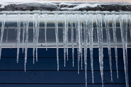 estado del tiempo: Concepto de clima frío Foto de archivo