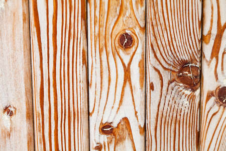 Exemplar: Natural wood pattern. Wooden tiles with knots, Different kinds wood planking texture. Macro view. Stock Photo