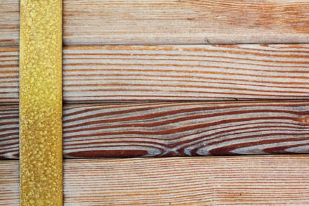 brass: Wooden tiles frame, Different kinds wood planking texture. Macro view.
