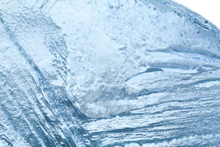 ridge of wave: Macro view blue ice background. cold storage concept. soft focus