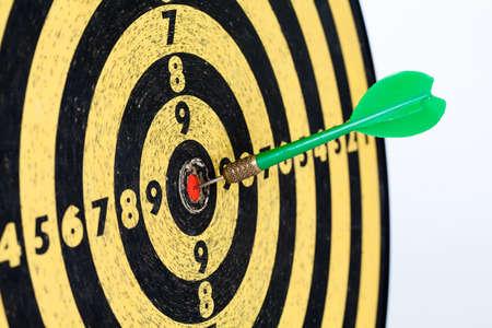 Retro style target darts on white background. success aim, goal concept photo