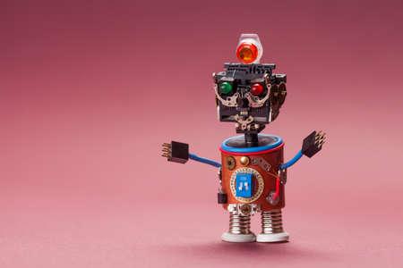 Futuristische Roboterkonzept. Lustige Spielzeug-Mechanismus ...