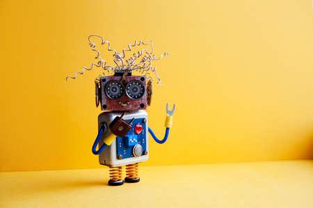 Verrückte Roboter Heimwerker Rote Zangen Hand. Lustige Spielzeug ...