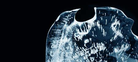 Textured frozen ice