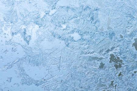 Ice flowers. Window frost. Imagens