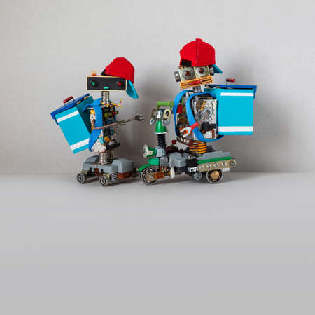 Robotics delivery service business. Imagens