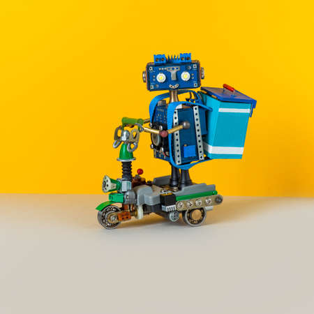 Robotics delivery service and transportation of goods. Imagens
