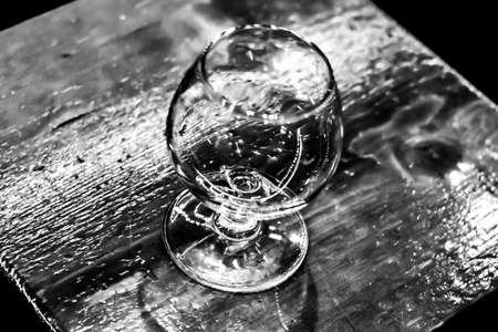 Empty cognac glass