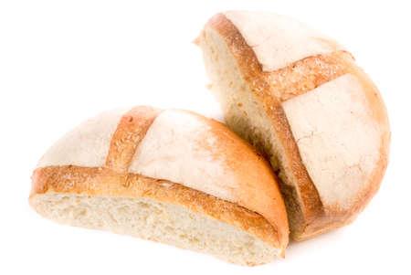 White bread isolated Stock Photo