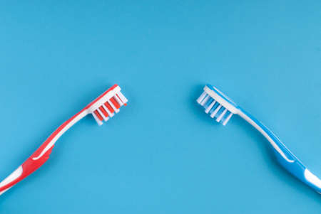 Tooth cleaning idea Stock Photo