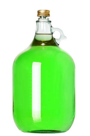 the Wine bottle isolated on a white background, glass bottle of alcoholic drink, nobody.