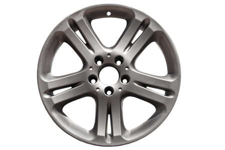 spokes: Car wheel, Car alloy rim on white background.