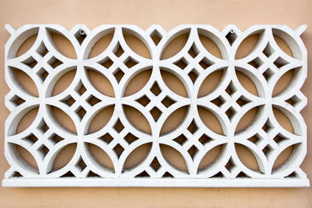 Product from plaster for dressing of facades of buildings and internal rooms.